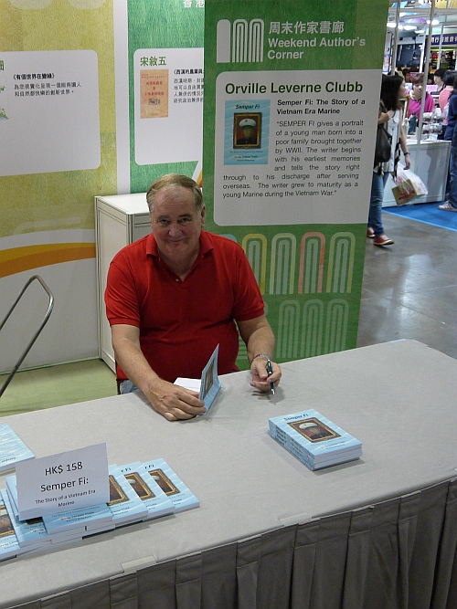 Lee Clubb at the Hong Kong Book Fair 2012