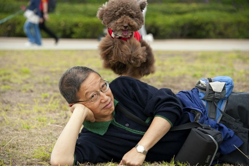 Chocolate and Rupert Chan (photo by Mrs Chan).